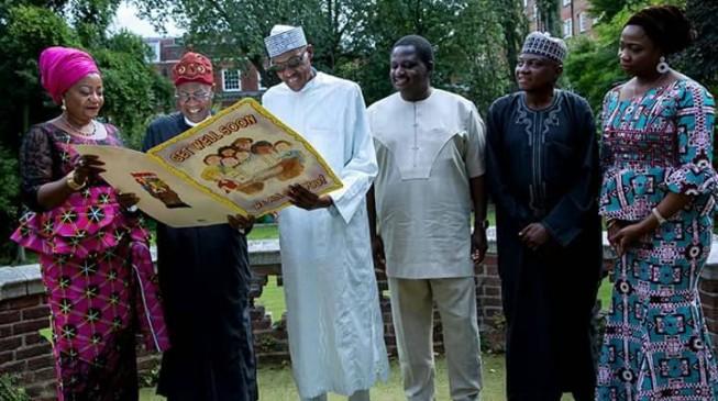 May God reward those praying for me - Buhari says in London