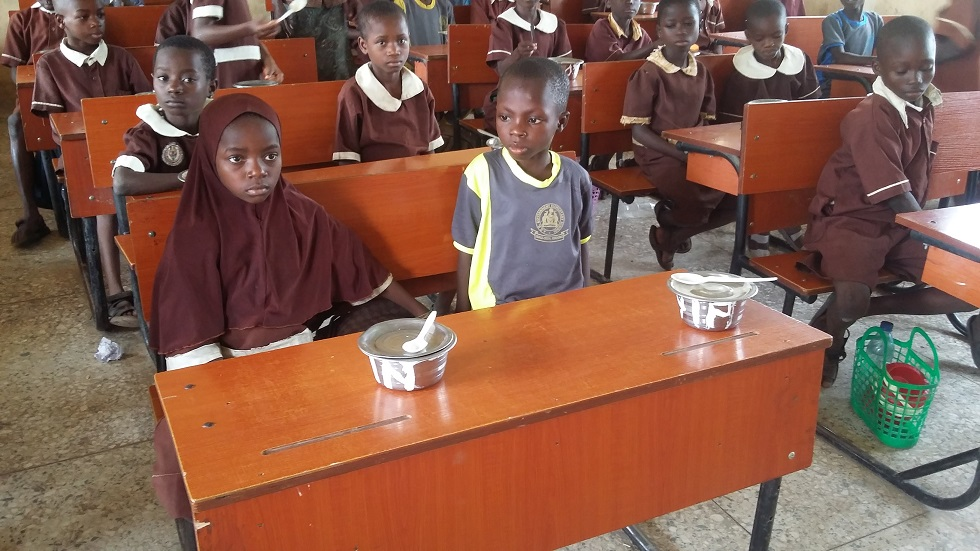 AUD pupils ready to eat
