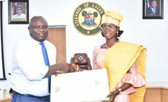 Ambode awards scholarship to one-day gov, says a woman will soon run Lagos