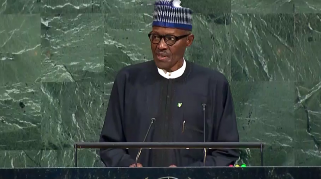 Buhari speaks at UN general assembly