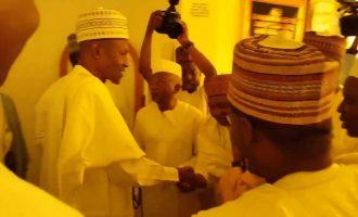 VIDEO: Sambo observes Jumat prayer with Buhari