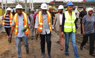 PHOTOS: Bala Usman inspects Apapa road construction, says work pace must improve
