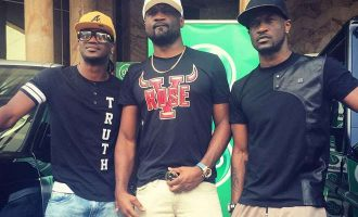 VIDEO: Psquare, Jude verbally attack each other in lawyer's office
