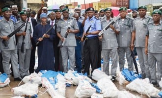 MATTERS ARISING: What happened to previous illegal arms seized by customs?