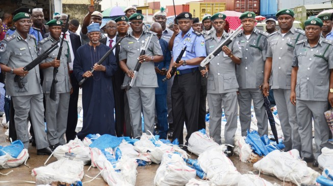 Two suspects arrested over 1100 rifles seizure in Lagos