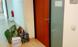 Recall: INEC officials drop documents in front of Melaye's office