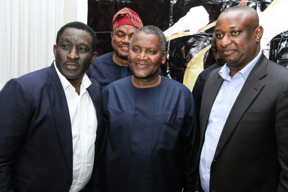 Dangote attends reception in honour of Keyamo