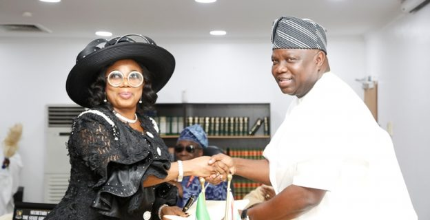Ambode swears in new chief judge of Lagos