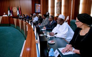 Buhari hosts judges in Aso Rock