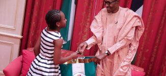 Buhari meets girl who donated her lunch money to his presidential campaign