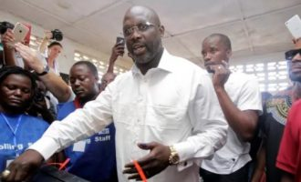 George Weah takes early lead in Liberia election
