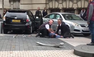 Several injured after car ploughs into pedestrians in London