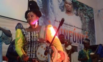 PHOTOS: Queen of drums, Ara, premieres new movie 'Osunfunke'