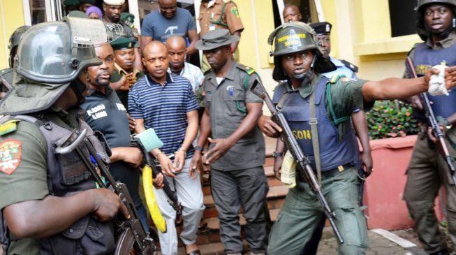 Image result for Police promote 45 officers who captured Evans