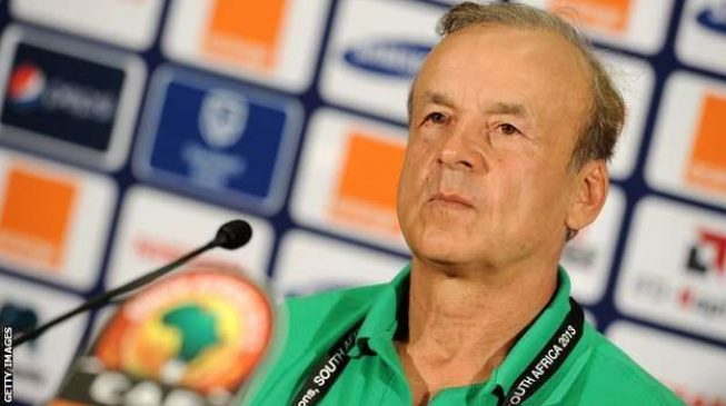 Rohr: I'll sing both national anthems if Nigeria plays Germany at World Cup