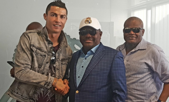 PHOTOS: Wike meets Ronaldo in Spain