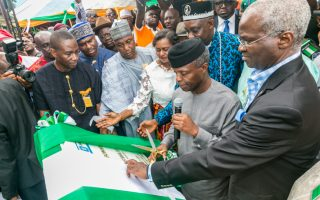 Osinbajo inaugurates Bonny-Bodo bridge and road projects