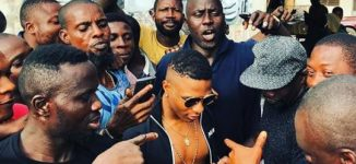 PHOTOS: 'My people want me home every day' — Wizkid reconnects with Surulere fans