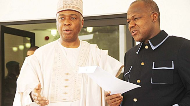 Buhari Apologises As Saraki, Dogara Leave Aso Rock