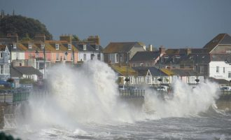 Three killed as hurricane Ophelia hits UK