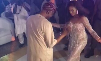 WATCH: Mimiko in dance competition with daughter on her wedding day