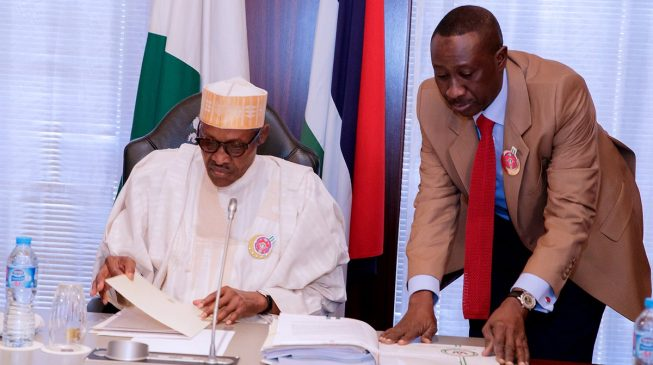 President Buhari meets members, leadership of CAN in Aso Rock
