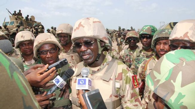 Buratai promises to pay Troops allowances this Week, Commends Soldiers