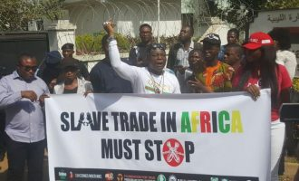 CSOs storm Libyan embassy to protest slave auctions
