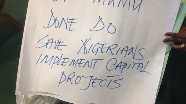 Drama as PDP reps plan anti-Buhari protest
