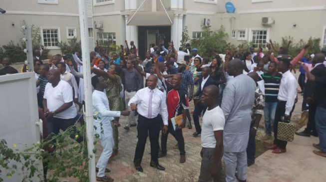 Drama as police prevent reopening of Peace Corps headquarters