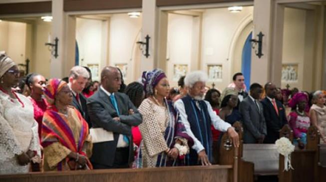 PHOTOS: Soyinka in US church as son weds