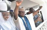 VIDEO: Gov Yahaya Bello in 'house warming' victory dance