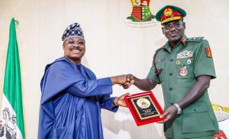 Oyo partners army to sustain peace