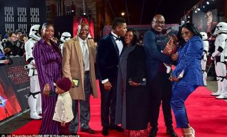PHOTOS: John Boyega shares spotlight with family at Star Wars premiere