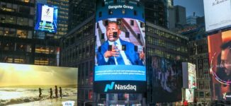 Dangote's picture displayed at New York's NASDAQ Tower