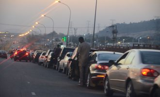 VIDEO: Anger in the land as motorists abandon homes for filling stations
