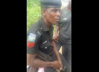 TRENDING VIDEO: 'Drunk' policeman demands bribe from 'Okada' rider in Badagry