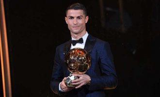 Ronaldo wins fifth Ballon d'Or, equals Messi's record