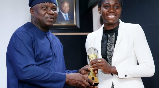Ambode praises Oshoala, says Lagos is proud of her achievements