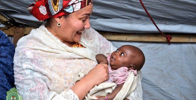 Amina Mohammed visits IDPs in Borno