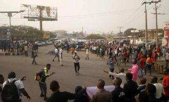 Governor stoned during violent protest in Benue