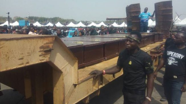 PHOTOS: Benue holds mass burial for those killed by herdsmen