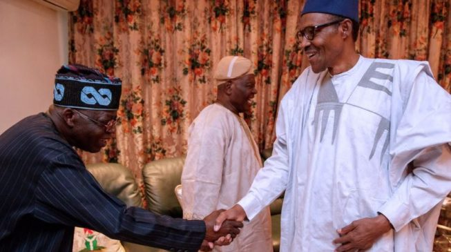 Tinubu: My visit to Buhari has nothing to do with OBJ's letter