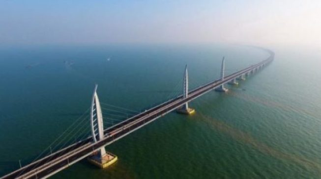 Image result for After 8 years, China completes world's longest sea bridge