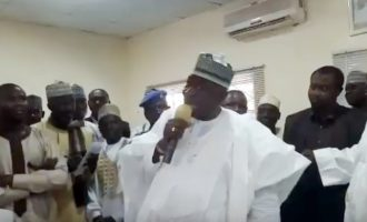 VIDEO: Kano commissioner asks supporters to stone 'political satan' Kwankwaso