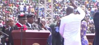 George Weah takes oath of office