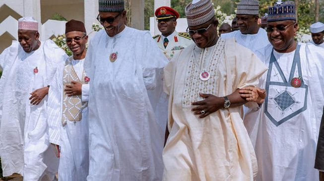 Buhari meets El-Rufai, Ganduje five other Northern govs in Aso Villa