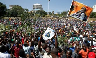 Kenyan opposition leader swears himself in as 'president'
