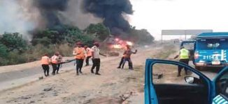 '10 dead', several injured in gas station explosion in Lagos