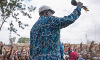 Kenya's opposition supporters converge to swear in 'president' Odinga